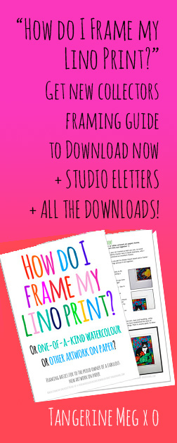 """Header image for """"Downloadable framing guide"""" featuring typographic cover"""