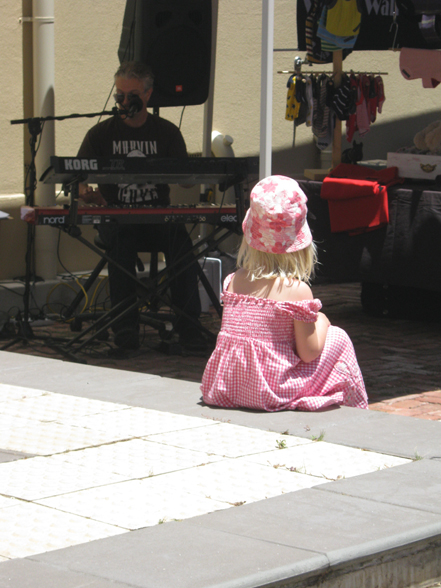 girl in pink