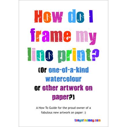 How do I frame my lino print_cover