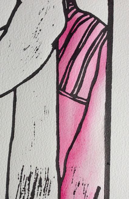 pink underlayer cardigan