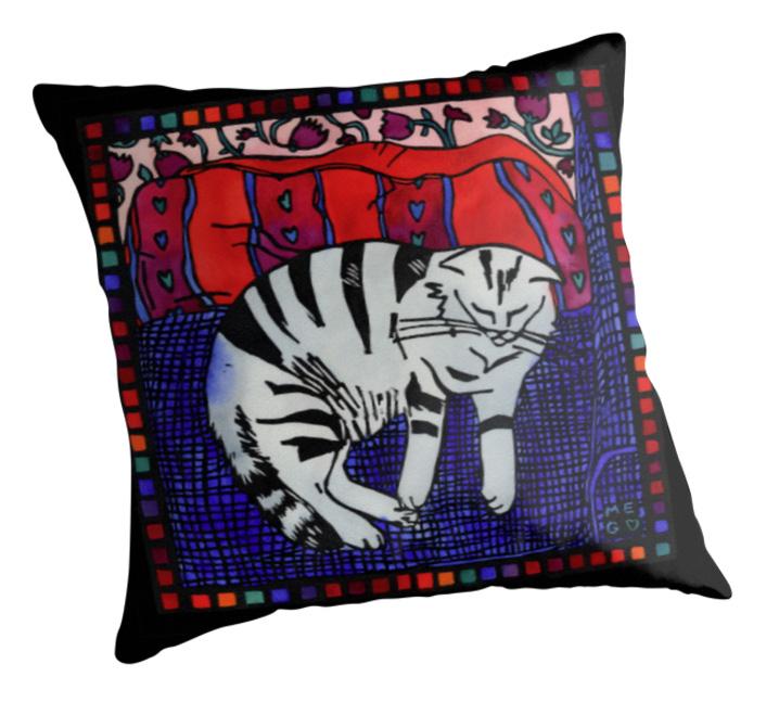 cat and cushion throw pillow blog