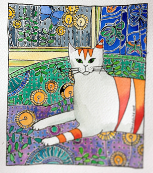 stripey-cat-patterns-watercolor