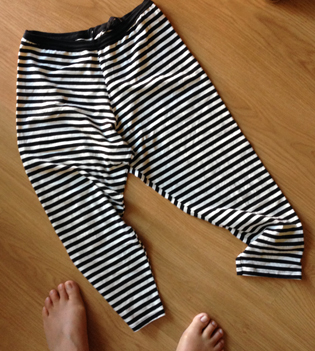feet and stripy leggings photo