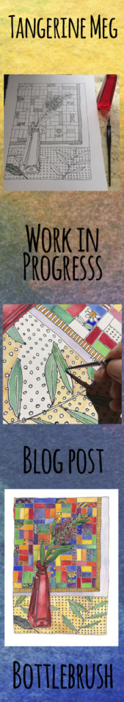 work in progress bottlebrush painting header, in tall format for pinterest