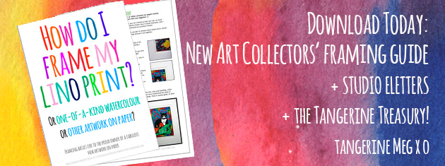 "Header image for ""Downloadable framing guide"" for new art collectors"